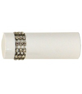 Koncovka biela Cylinder crystal